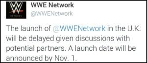 WWE Network UK launch announcment for November header