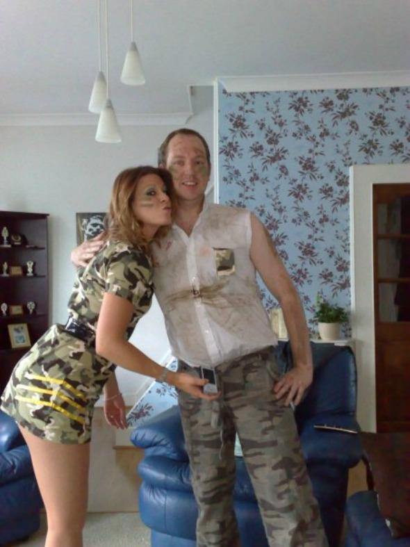 Tasha and Dan in fancy dress