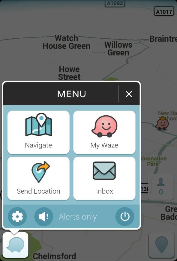 Waze screenshot - Finding cheap fuel - From an article by DannyUK.com