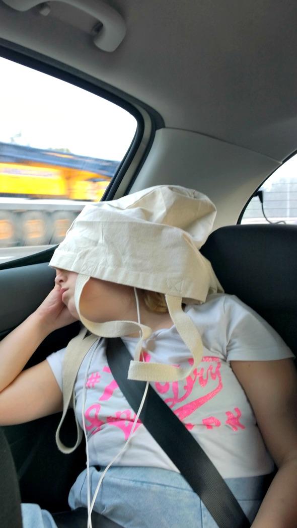 My Sunday Photo - My daughter trying to sleep