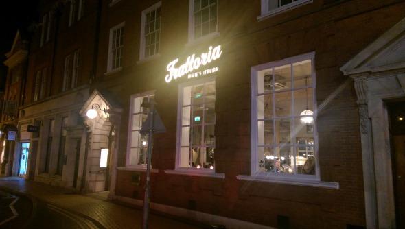 Jamies Italian Chelmsford shopfront- Taken from a review on DannyUK.com