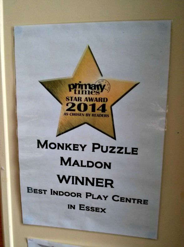Monkey Puzzle Maldon - Madison Heights Maldon - Primary Times winner best indoor play centre essex - Taken from a review by DannyUK.com