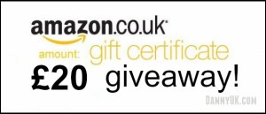 20 amazon voucher giveaway header - From a competition being run by DannyUK.com