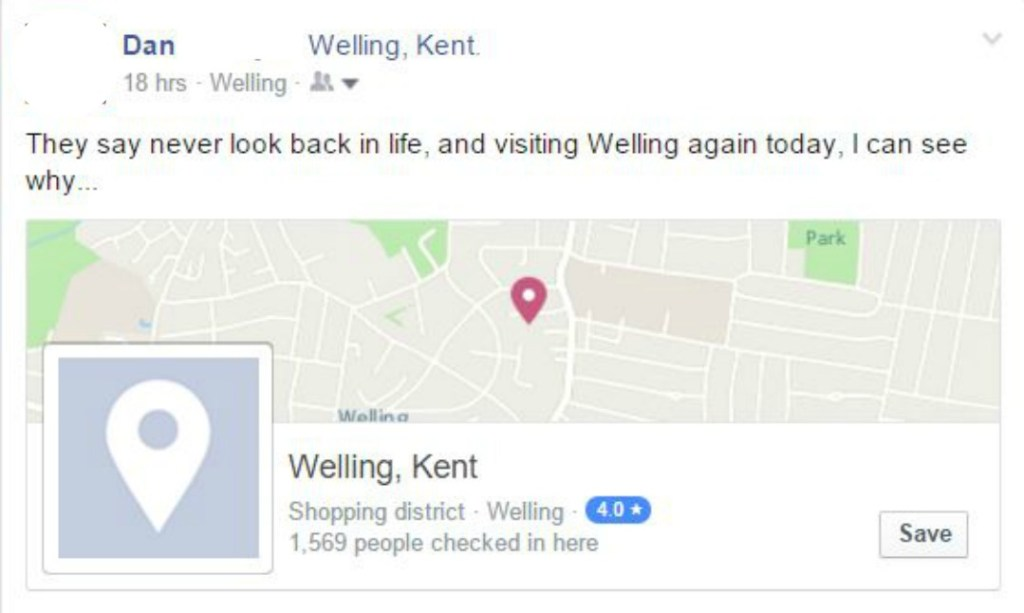 Back to Welling - Taken from a blog post by DannyUK.com