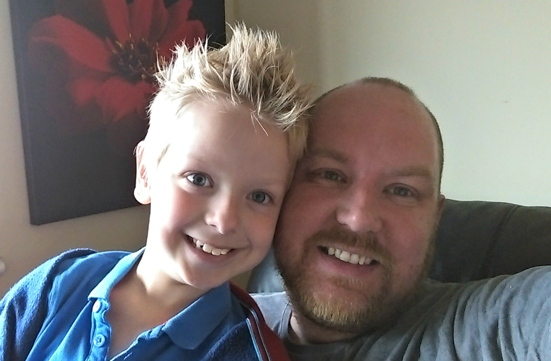 DannyUK with his son - Taken from the DannyUK.com article What does kinky mean