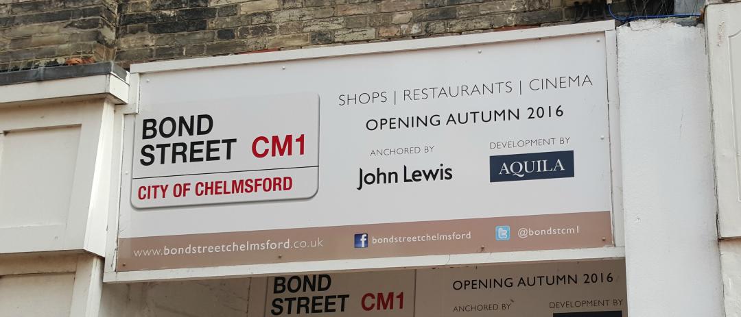 Bond Street Chelmsford John Lewis board