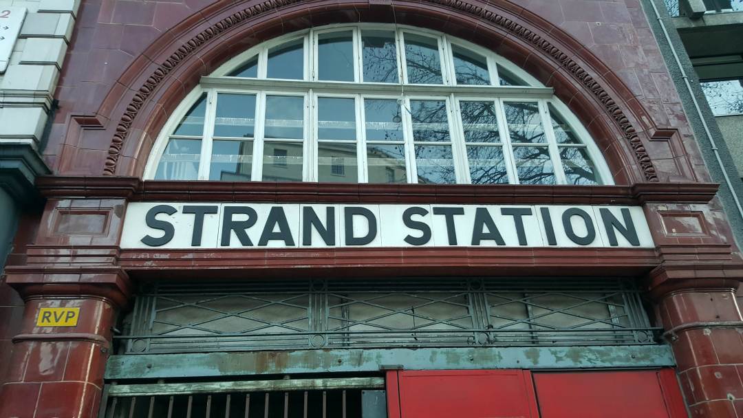 Hidden London - Strand Station entrance - Part of the abandoned tube station tour