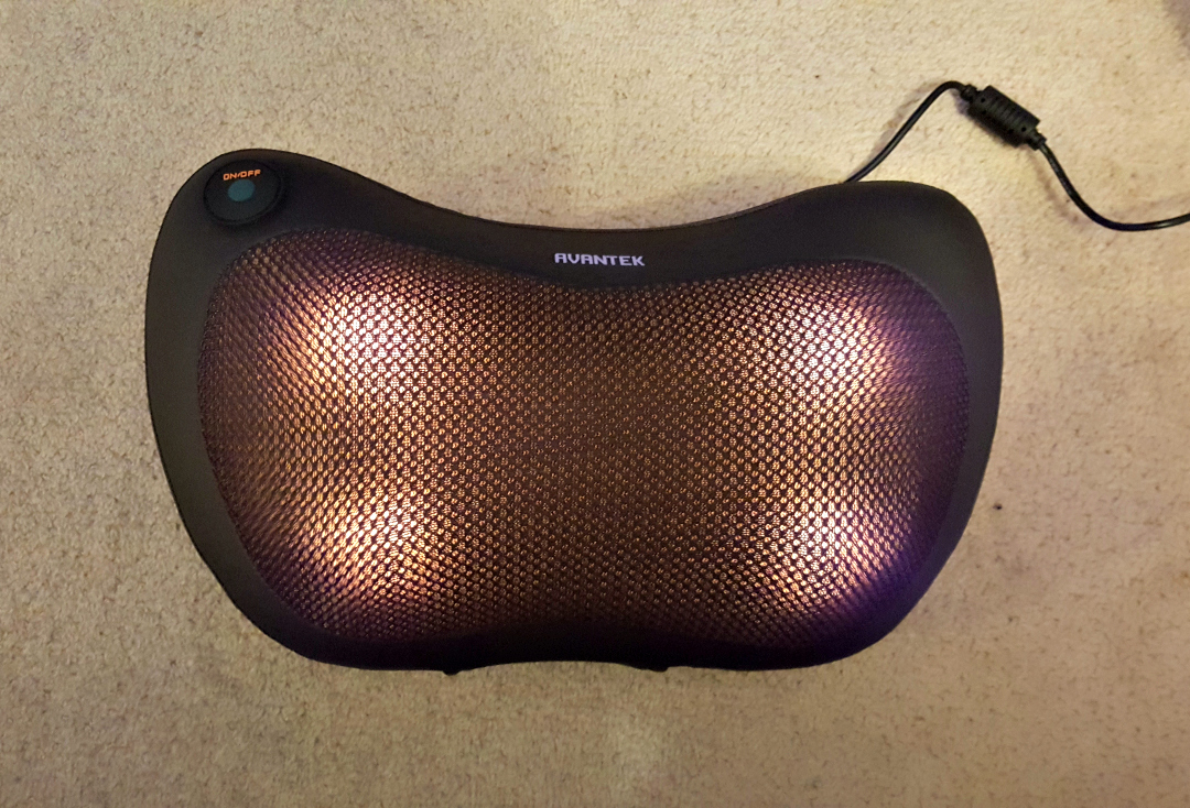 Avantek Portable Massage Pillow MP-11B - The heated rollers