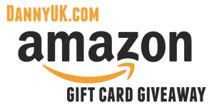 Amazon gift voucher giveaway header - from a DannyUK.com giveaway