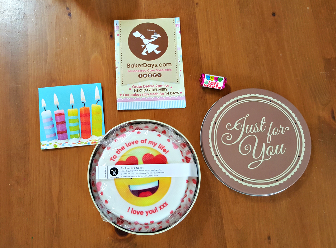 Baker Days - Letterbox cake - Contents of the box