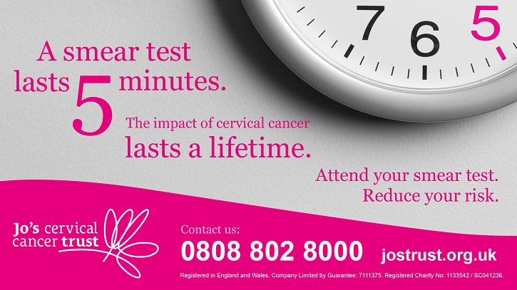 Cervical Screening image - taken from jostrust.org.uk with thanks