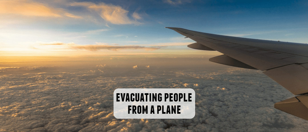 Evacuating people from a plane