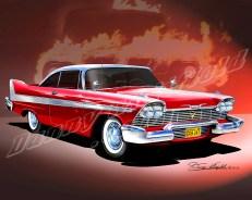 1958 PLYMOUTH FURY CHRISTINE! ROYAL RED