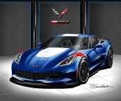2017 CHEVROLET CORVETTE GRANDSPORT ART BY DANNY WHITFIELD