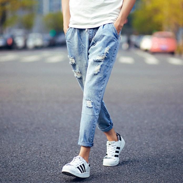 chọn quần jean thời trang nam hè - 7