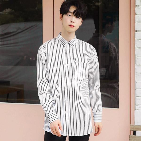 áo sơ mi nam form rộng dài - 7