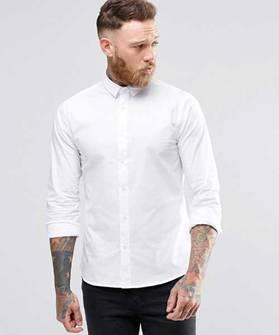 áo sơ mi nam trắng đen