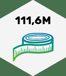 111,6 Meter