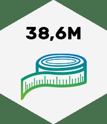 38,6 Meter