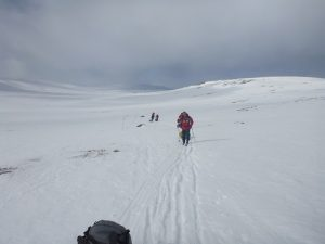 Members of the polar trek team in training in Norway, last month.