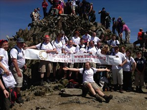 TransAid team atop Snowdon