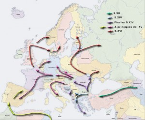 The migration of the Romanies