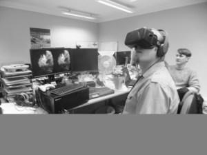 Dan plays Back To Dinosaur Island on an Oculus Rift.