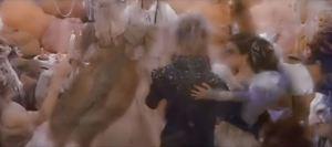 Sarah and Jareth dance in the ballroom scene of Labyrinth.