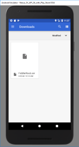 Installing a Root CA in Android.