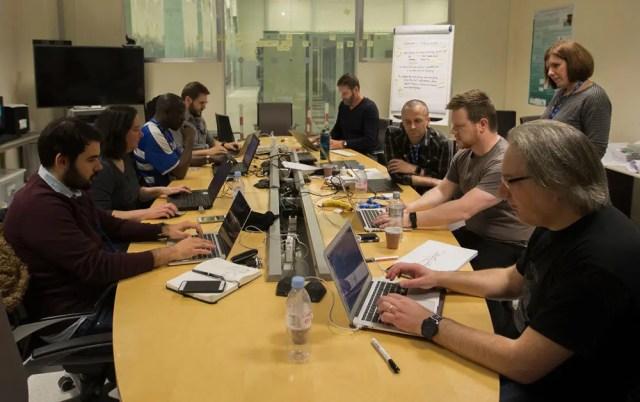 Geeks hacking on WorldWideWeb reborn