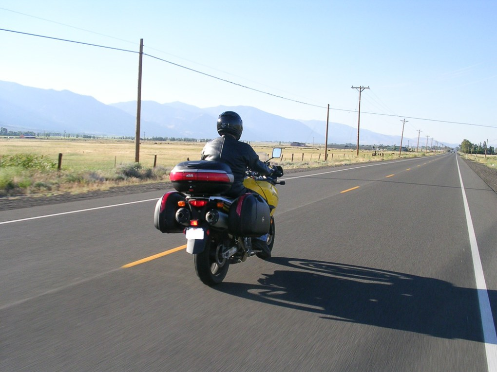 Riding out in the Nevada desert