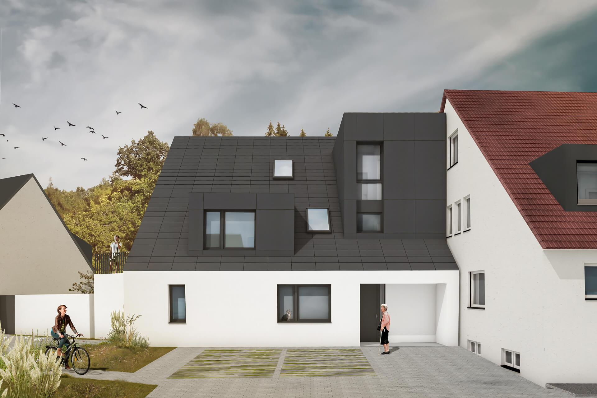 Perspektive Mehrfamilienhaus