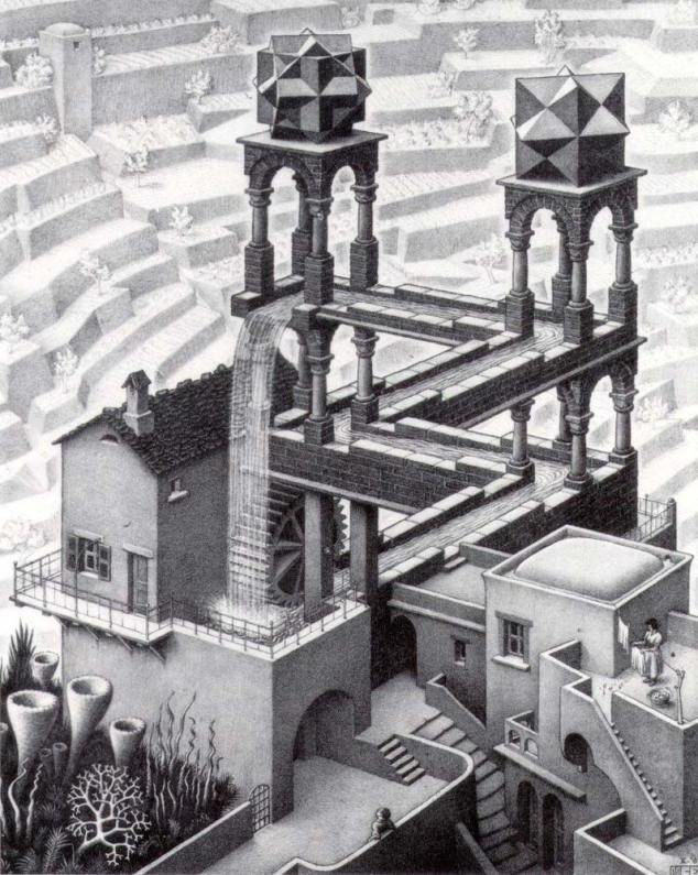Waterfall, par Escher.