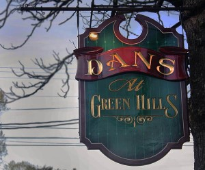 Dans at Green Hills sign