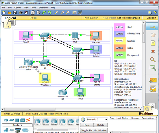 Packet tracer labs ccna