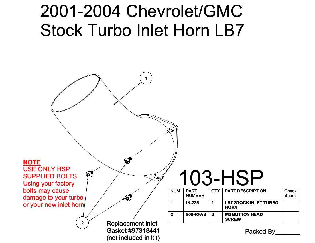 Chevrolet Gmc Stock Turbo Inlet Horn Orange