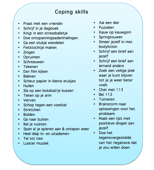 coping skills lijst