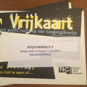 vrijkaart bioscoop pitch perfect 2