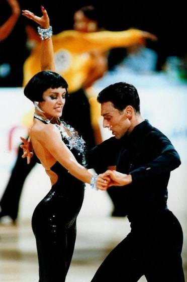 Les professeurs de danse Eric et Gaëlle