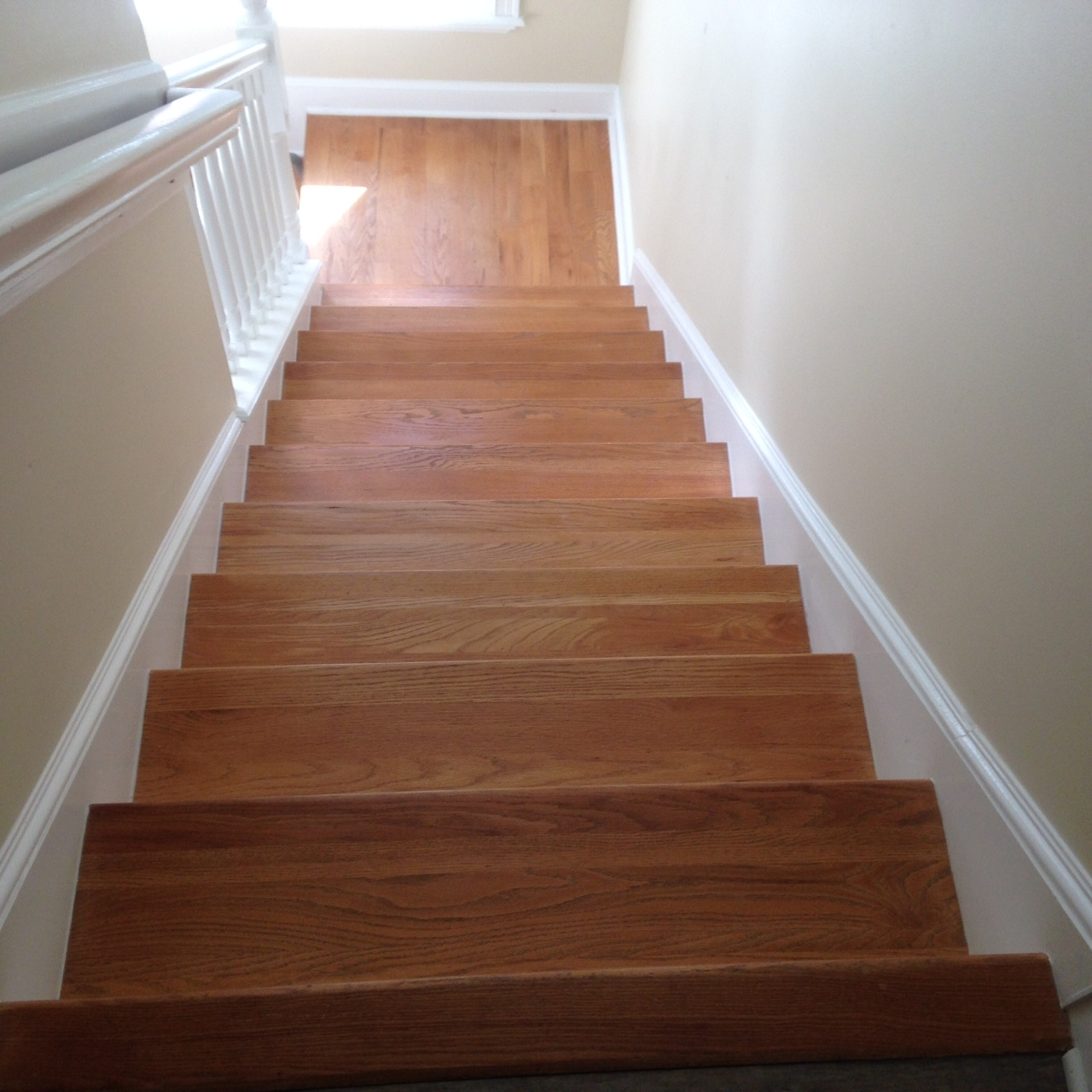 Wood Floor Repair Sand And Stain In Ponte Vedra Fl   Sanding And Staining Stairs   Pine   Stair Railing   Wood Stairs   Stair Case   Stair Risers