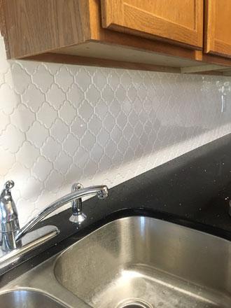tile backsplash installation hickory