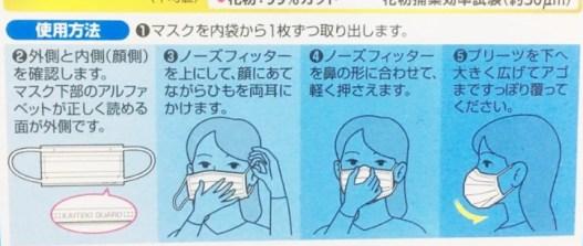 マスクの使用方法図解