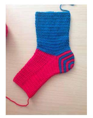 spiral sokker næsten færdig