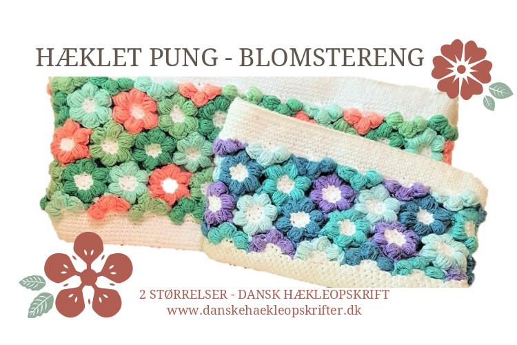 Hæklet Pung - Blomstereng