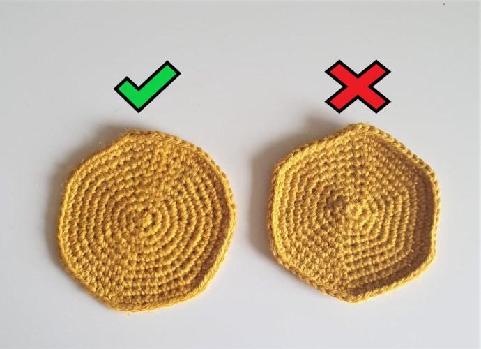 matematisk korrekte hæklede cirkler