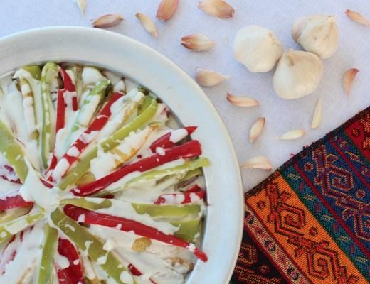 yogurtlama opskrift, tyrkisk mad, tyrkiske retter, tyrkiske opskrifter, stegte grøntsager med yoghurt, vegetar opskrifter, vegetar opskrift med squash, tyrkiske retter med squash, nemme tyrkiske retter