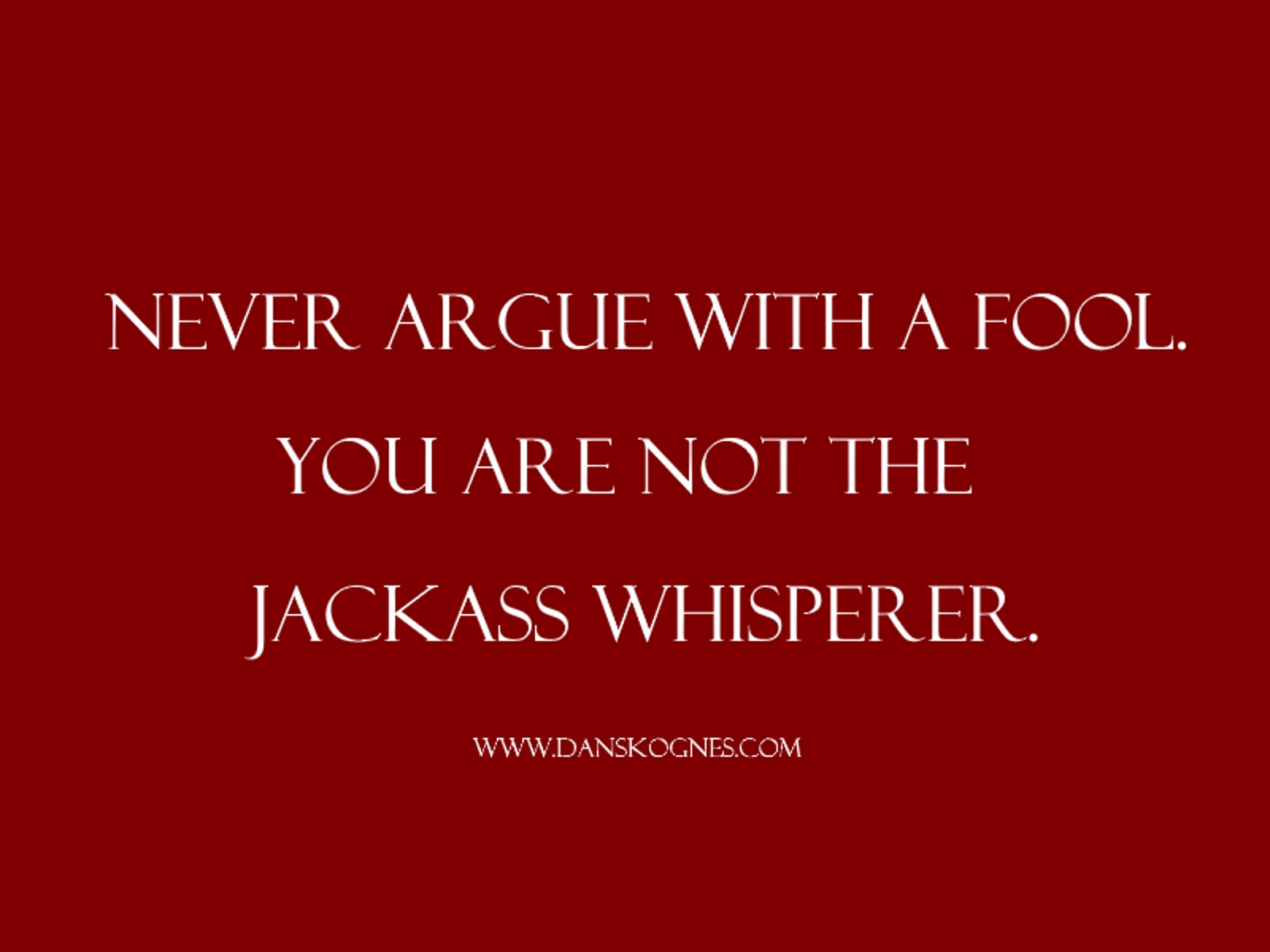 argue with a fool