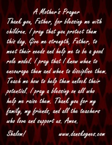 A Mothers Prayer Magnet dan skognes motivation blogger speaker teacher trainer coach educator