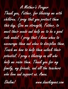 A Mothers Prayer Magnet dan skognes motivation blogger speaker teacher trainer coach educator