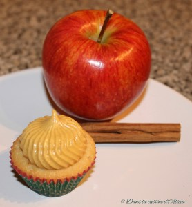 Cupcake pomme-cannelle